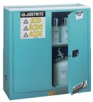 Justrite 893002 Blue Steel Safety Cabinets for Corrosives