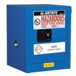 Justrite 860428 Sure-Grip EX Countertop Hazardous Material Steel Safety Cabinet