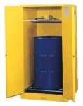Justrite 896260 Yellow Vertical Drum Safety Cabinets