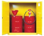 Justrite 899100 Yellow Vertical Drum Safety Cabinets