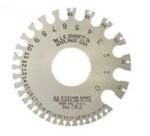 L.S. STARRETT 51318 Nos. 0-36 U.S. Standard Gages