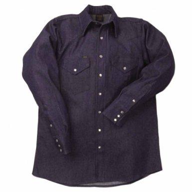 Lapco DS-16-1/2-L 1000 Blue Denim Shirts