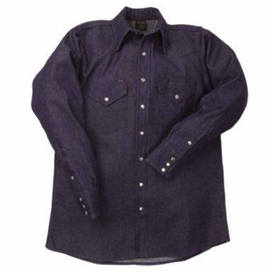 Lapco DS-17-1/2-M 1000 Blue Denim Shirts