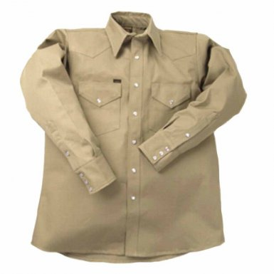 Lapco LS-15-1/2-L 950 Heavy-Weight Khaki Shirts