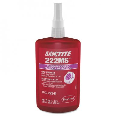 Loctite 135335 222MS Threadlockers, Low Strength/Small Screw