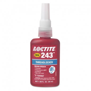 Loctite 1330255 243 Medium Strength Blue Threadlockers