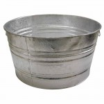 Magnolia Brush #1 TUB Galvanized Round Tubs