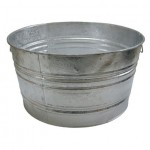 Magnolia Brush #3 TUB Galvanized Round Tubs