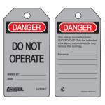 MASTER LOCK S4002MT Danger Do Not Operate - Metal Detectable Safety Tags