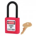 MASTER LOCK 406RED Dielectric Zenex Thermoplastic Safety Padlock