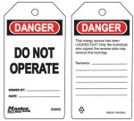 MASTER LOCK S4002 Guardian Extreme Safety Tags