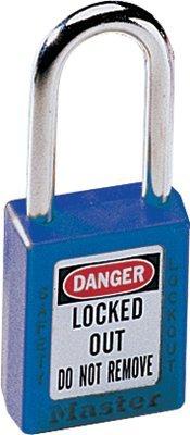 MASTER LOCK 410BLU No. 410 & 411 Lightweight Xenoy Safety Lockout Padlocks