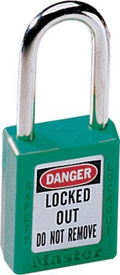 MASTER LOCK 410GRN No. 410 & 411 Lightweight Xenoy Safety Lockout Padlocks