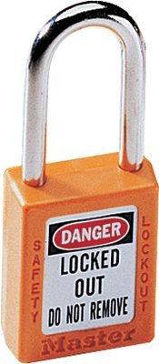 MASTER LOCK 410ORJ No. 410 & 411 Lightweight Xenoy Safety Lockout Padlocks