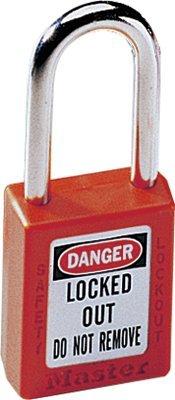 MASTER LOCK 410RED No. 410 & 411 Lightweight Xenoy Safety Lockout Padlocks