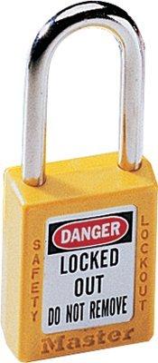 MASTER LOCK 410YLW No. 410 & 411 Lightweight Xenoy Safety Lockout Padlocks