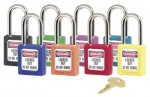 MASTER LOCK 411GRN No. 410 & 411 Lightweight Xenoy Safety Lockout Padlocks