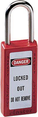 MASTER LOCK 411RED No. 410 & 411 Lightweight Xenoy Safety Lockout Padlocks