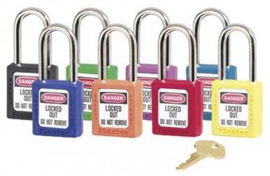 MASTER LOCK 411TEAL No. 410 & 411 Lightweight Xenoy Safety Lockout Padlocks