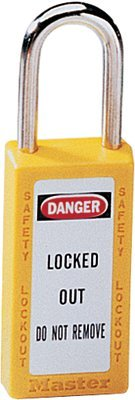 MASTER LOCK 411YLW No. 410 & 411 Lightweight Xenoy Safety Lockout Padlocks