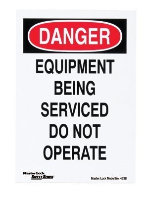 MASTER LOCK 463B Safety Series Lockout Signs