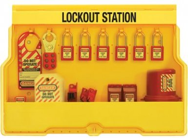 MASTER LOCK S1850E410 Safety Series Lockout Stations