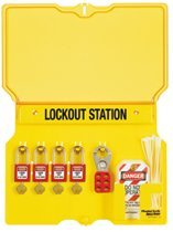 MASTER LOCK 1482BP410 Safety Series Lockout Stations with Key Registration Cards