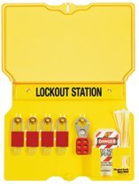 MASTER LOCK 1483B Safety Series Lockout Stations with Key Registration Cards
