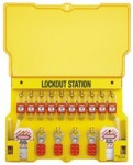 MASTER LOCK 1483BP410 Safety Series Lockout Stations with Key Registration Cards