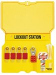 MASTER LOCK 1484B Safety Series Lockout Stations with Key Registration Cards