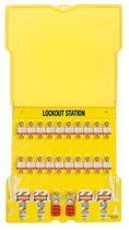 MASTER LOCK 1484BP3 Safety Series Lockout Stations with Key Registration Cards