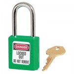 MASTER LOCK 410MKW417GRN Zenex Thermoplastic Safety Padlocks