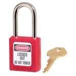 MASTER LOCK 410MKW417RED Zenex Thermoplastic Safety Padlocks