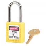MASTER LOCK 410MKW417YLW Zenex Thermoplastic Safety Padlocks