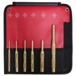 Mayhew Tools 67007 6 Piece Brass Pin Punch Set SAE