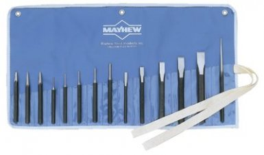 Mayhew Tools 61044 Mayhew Tools 14 Pc. Punch & Chisel Kits