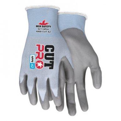 MCR Safety 92718PUXS Cut Pro PU Palm/Fingers
