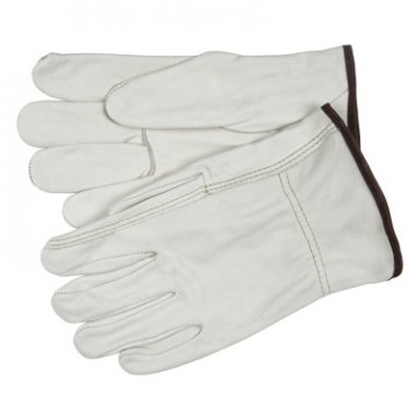 MCR Safety 3203S Industry Grade Unlined Grain Cow Leather Driver Gloves