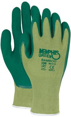 MCR Safety 96731GL Memphis Glove Green Bamboo Coated Gloves