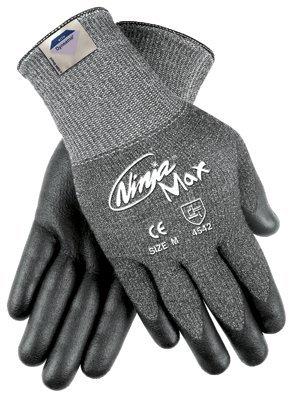 MCR Safety N9676GM Memphis Glove Ninja Max Bi-Polymer Coated Palm Gloves