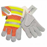 MCR Safety 1440L Memphis Glove Luminator Leather Palm Gloves