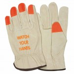 "MCR Safety 3413HVIL Memphis Glove ""Watch Your Hands"" Drivers Gloves"
