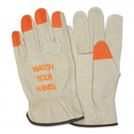 "MCR Safety 3413HVIS Memphis Glove ""Watch Your Hands"" Drivers Gloves"