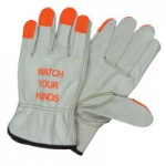 "MCR Safety 3213HVIS Memphis Glove ""Watch Your Hands"" Drivers Gloves"