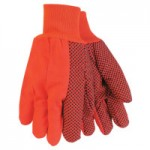 MCR Safety 9018DO Memphis Glove Hi-Visibility Orange Double-Palm Canvas Gloves