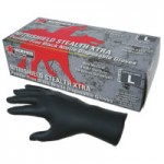 MCR Safety 6062L Memphis Glove NitriShield Stealth Extra Gloves
