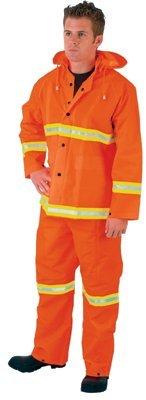 MCR Safety 2013RX2 River City Luminator 3-Piece Rain Suits, Lime Stripe