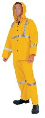 MCR Safety 2403RX4 River City Luminator 3-Piece Rain Suits