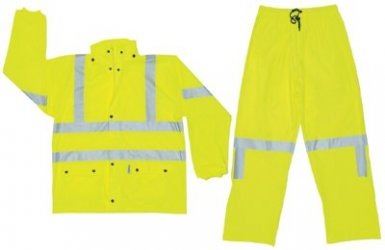 MCR Safety 5182X4 River City Luminator Class III Rain Suits