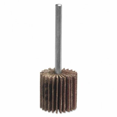 Merit Abrasives 8834137312 High Performance Mini Flap Wheels with Mounted Steel Shanks